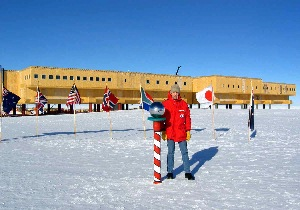 Bill Spindler at the New South Pole Station
